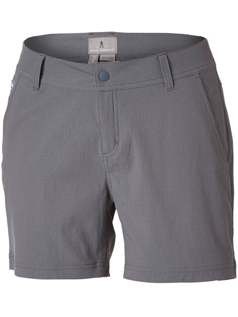 "Royal Robbins Alpine Road 5"" Shorts Women Pewter"